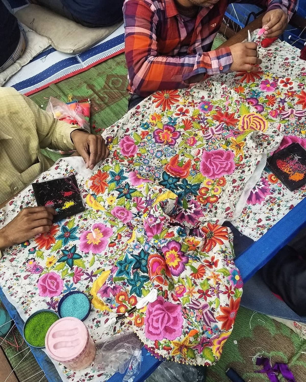 PERO studio hand embroidery