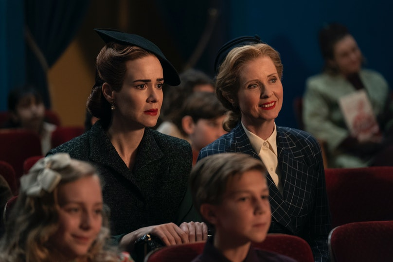 Sarah Paulson and Cynthia Nixon in Ratched