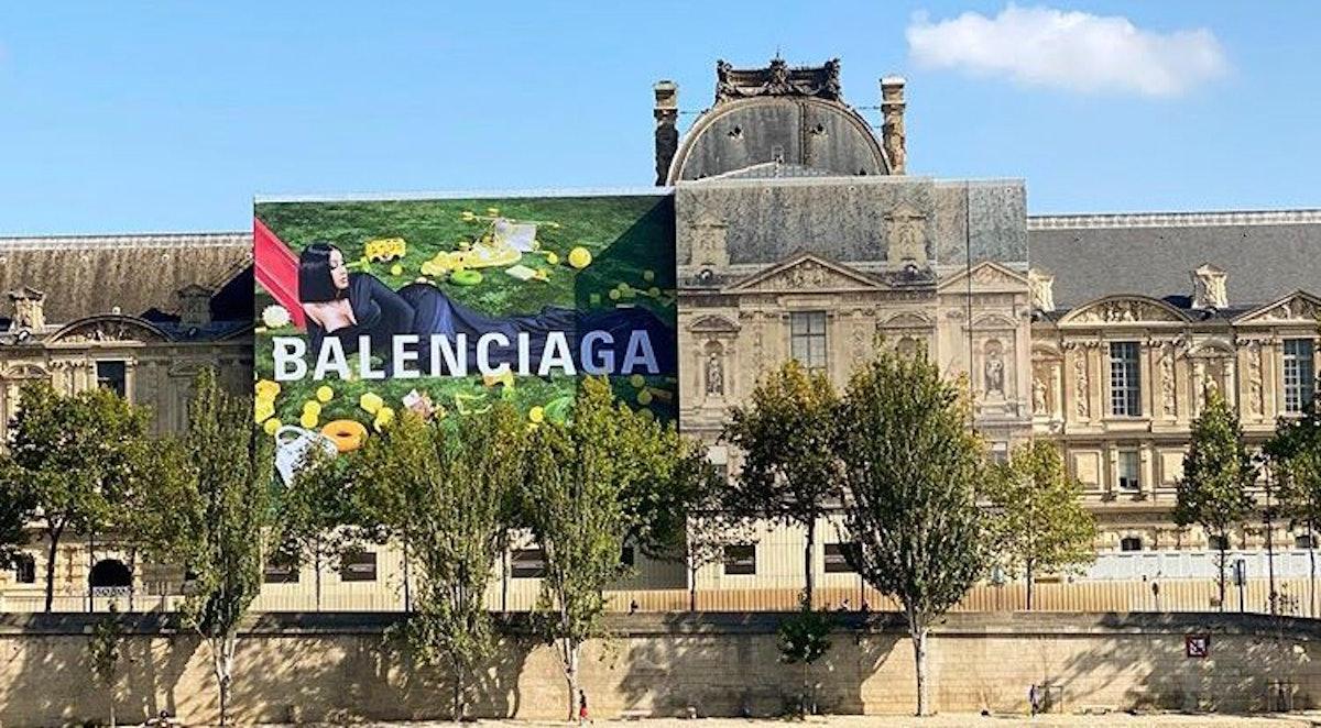 Cardi B billboard on the Louvre.