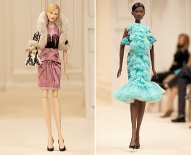 Two Moschino marionettes