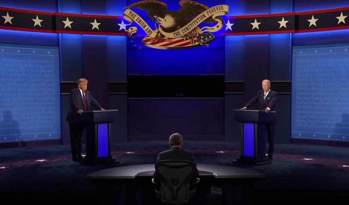 Trump and Biden debating