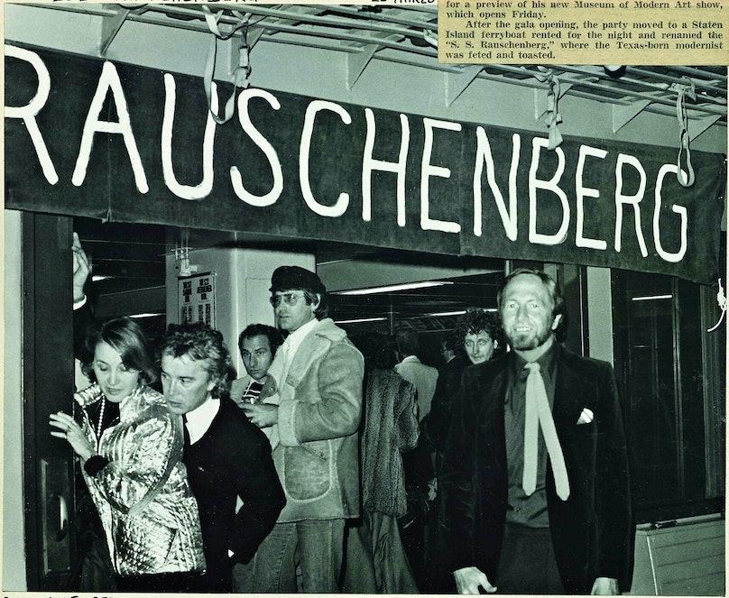 A party for Robert Rauschenberg