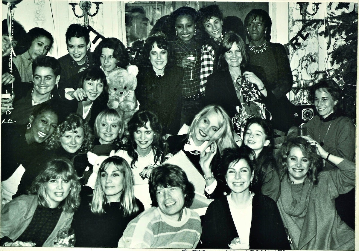 Guests at Jerry Hall's baby shower