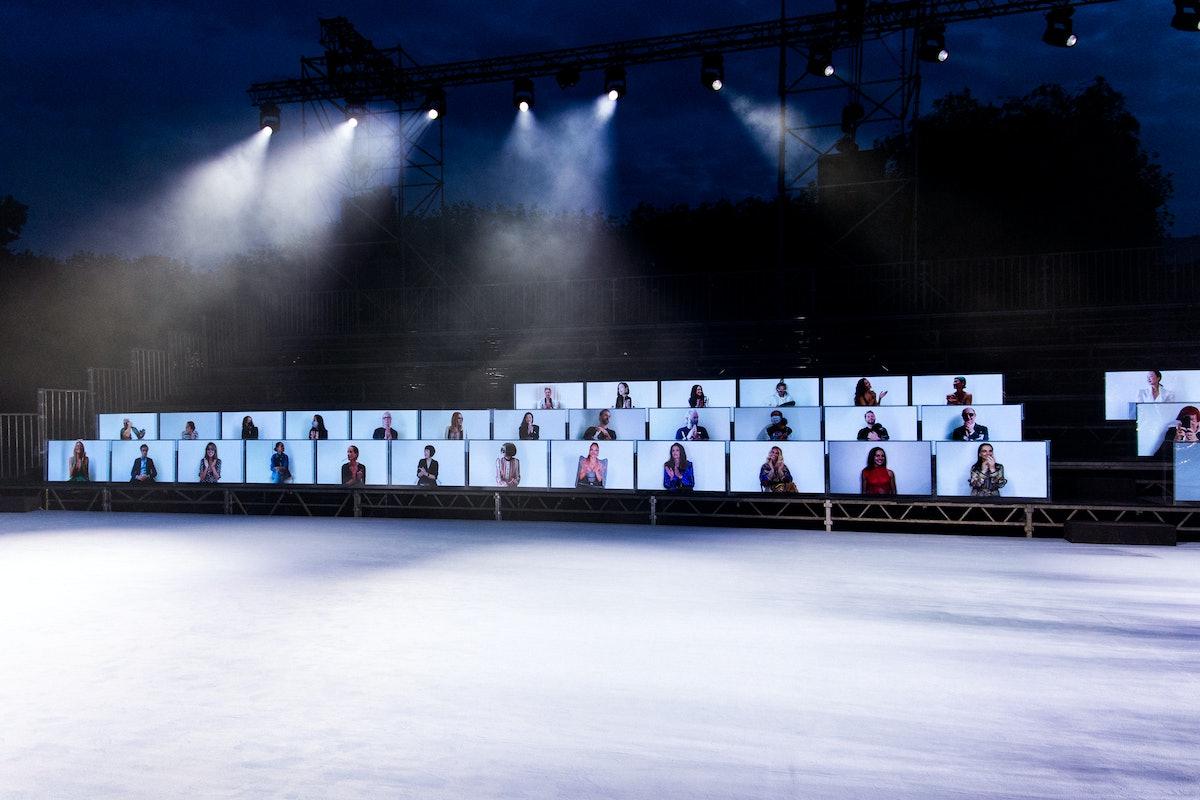 Screens at the Balmain show