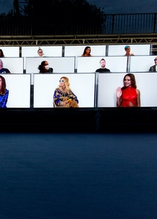 Virtual Balmain show attendees