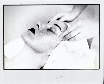Image of woman getting facial