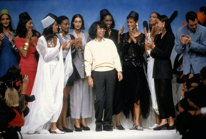 Kenzo Takada with models