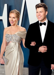 Scarlett Johansson and Colin Jost, who are now married.