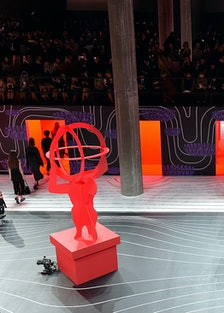 The runway at Prada's fall 2020 show