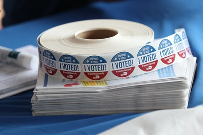 """Roll of """"I Voted"""" Stickers."""