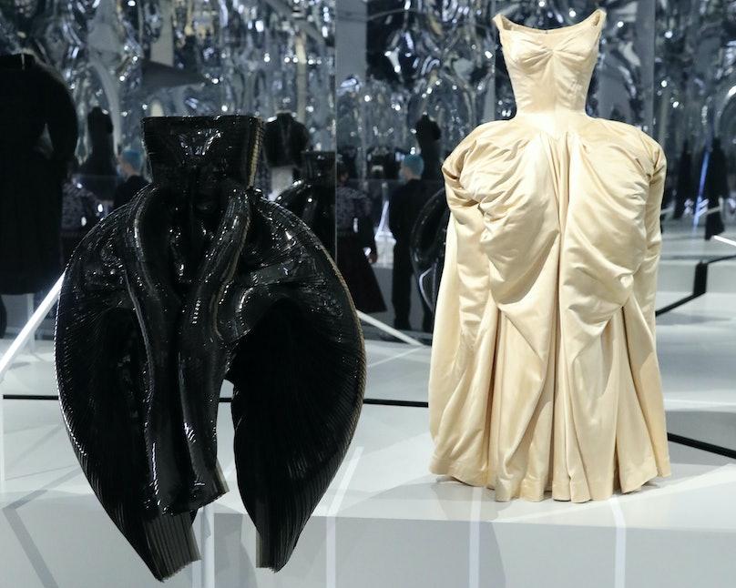 An Iris van Herpen dress and Charles James dress