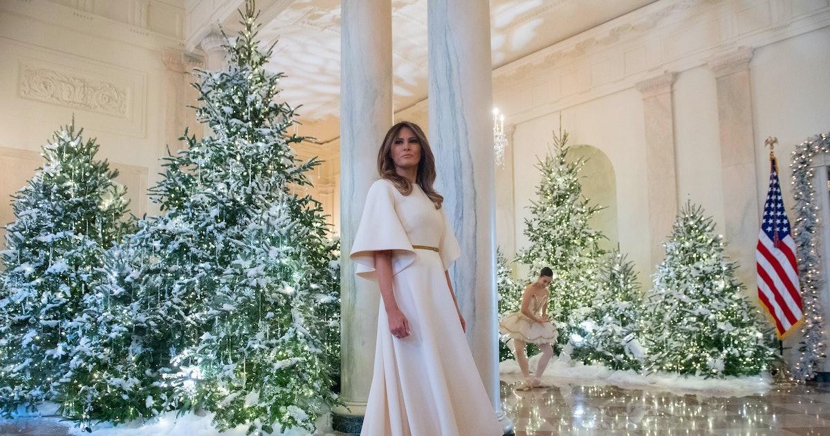 White House Christmas Decorations 2021 Meme Melania Trump On Christmas Stuff Who Gives A F Ck