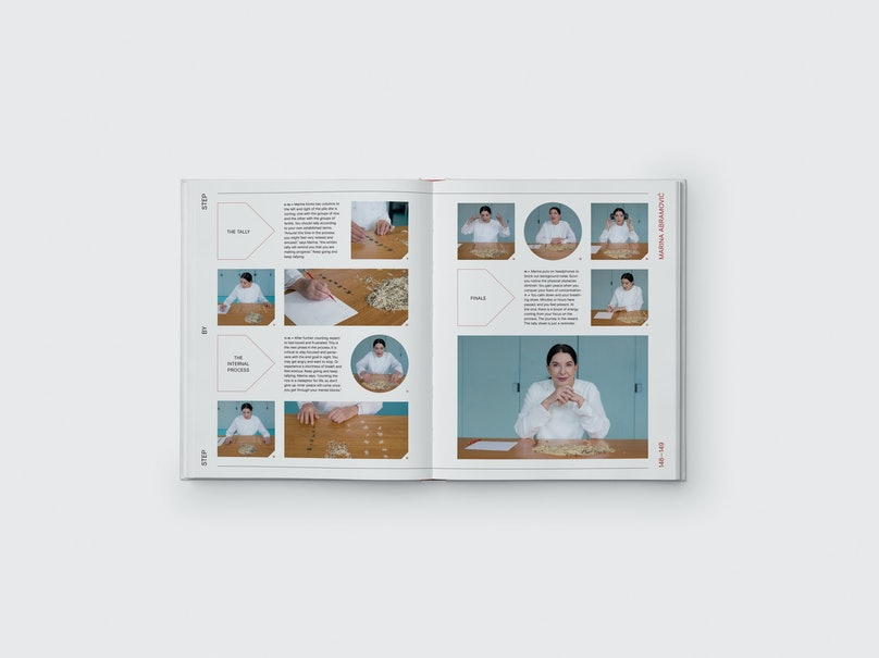 Open Studio- Do-It-Yourself Art Projects by Contemporary Artists by Sharon Coplan Hurowitz & Amanda Benchley, photography by Casey Kelbaugh, Phaidon – Marina Abramovic – Counting the Rice (artwork)A