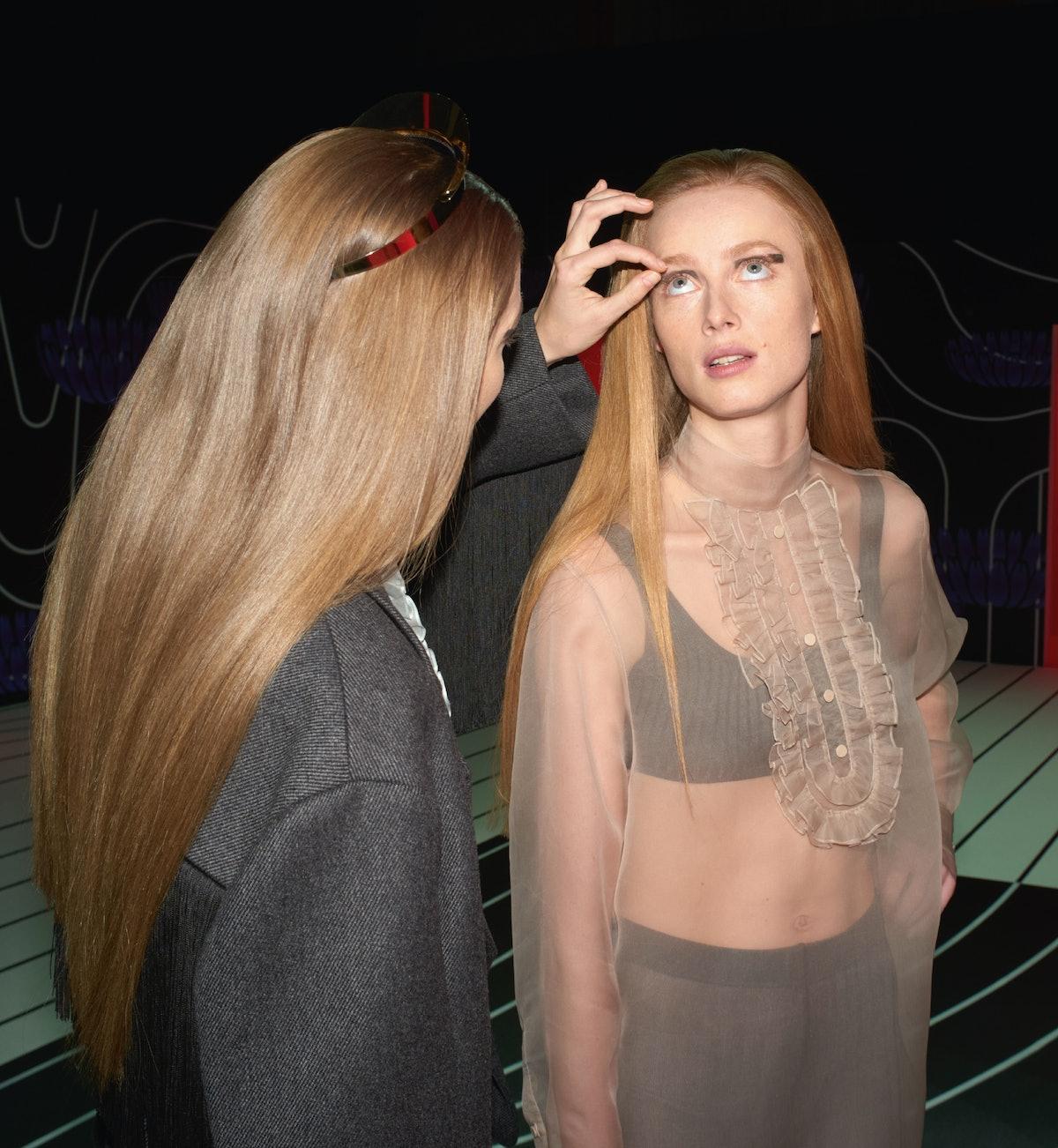 Gigi Hadid and Rianne van Rompaey