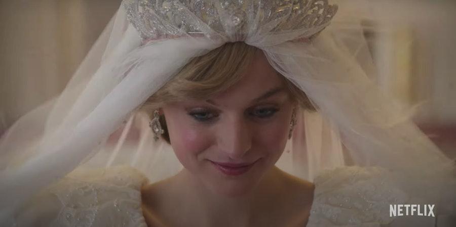 Emma Corrin as Princess Diana.