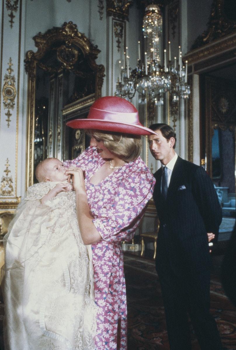 Princess Diana holding Prince William