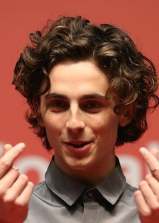 Timothee Chalamet does things with hands.