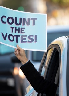 count the votes sign