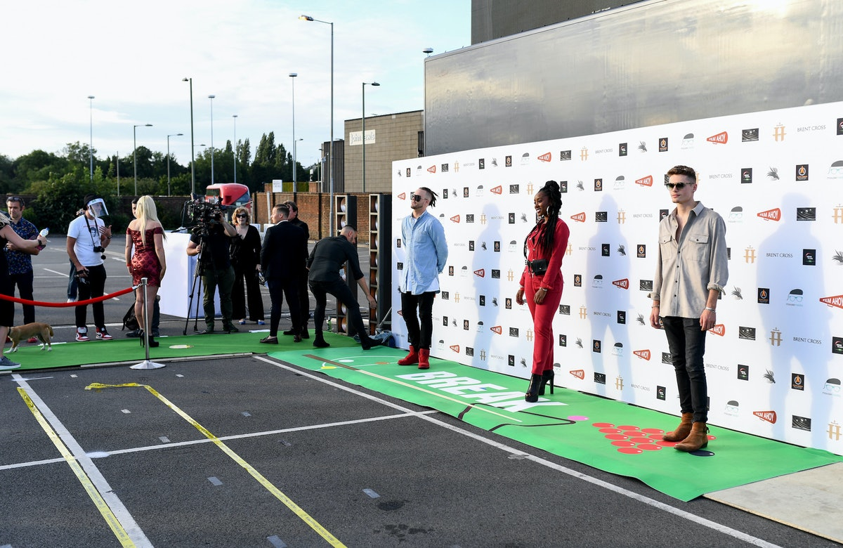 A socially distanced red carpet