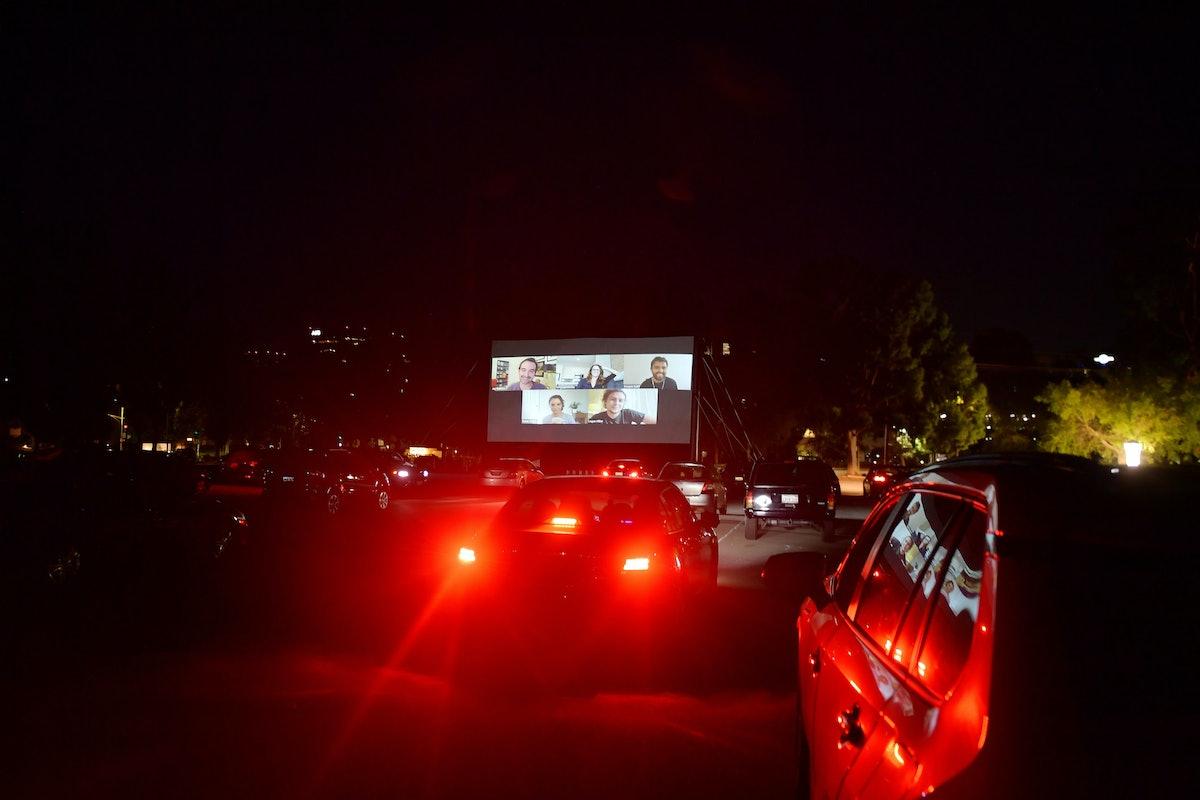 A drive-in premiere