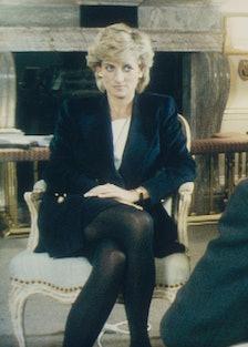 Princess Diana doing an interview with Martin Bashir