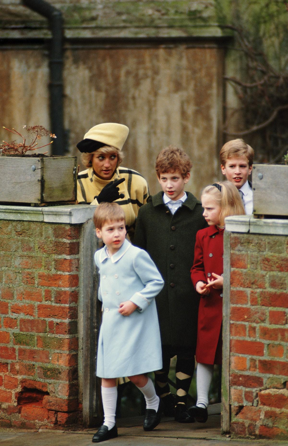 Princess Diana with kids