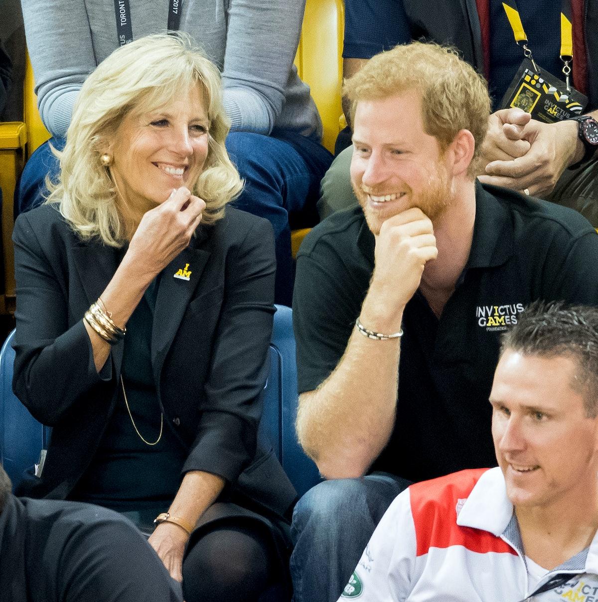 Jill Biden and Prince Harry