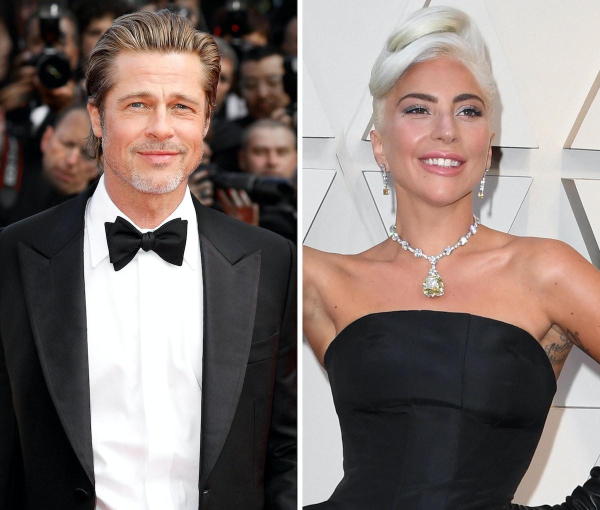 Brad Pitt and Lady Gaga
