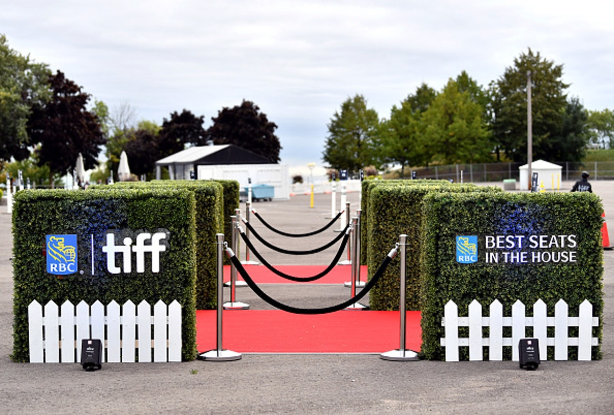 The Toronto Film Festival in a parking lot