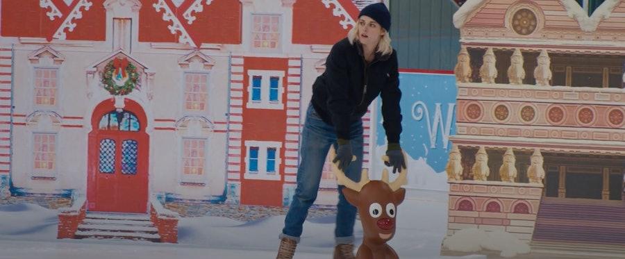 Kristen Stewart on ice skates.