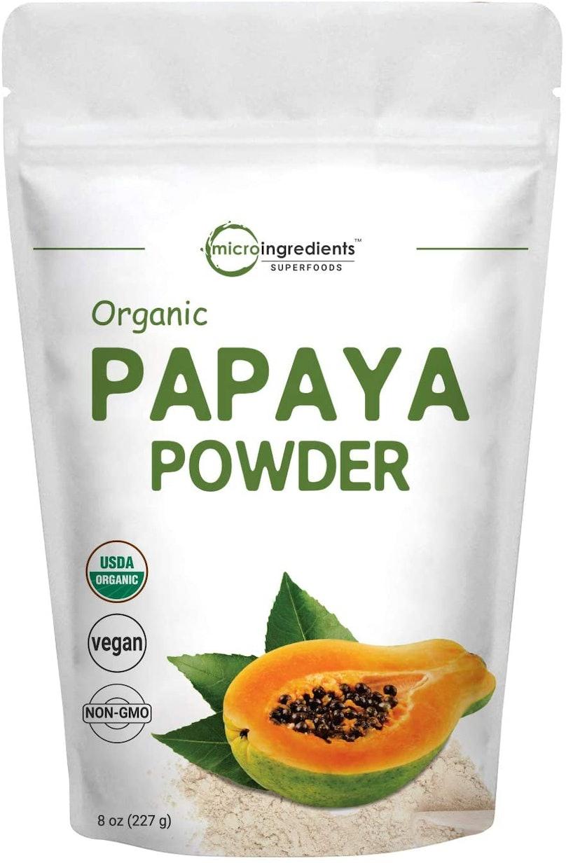 A bag of papaya powder