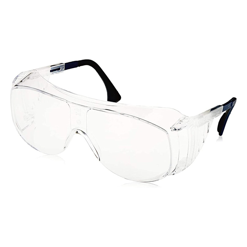 A pair of safety goggles