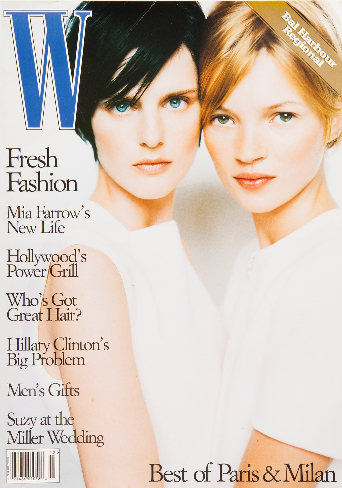Stella Tennant and Kate Moss on the cover of W
