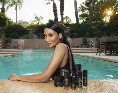 Beverly Johnson in a pool