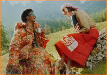 Gucci x North Face campaign