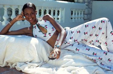 Beverly Johnson lounging