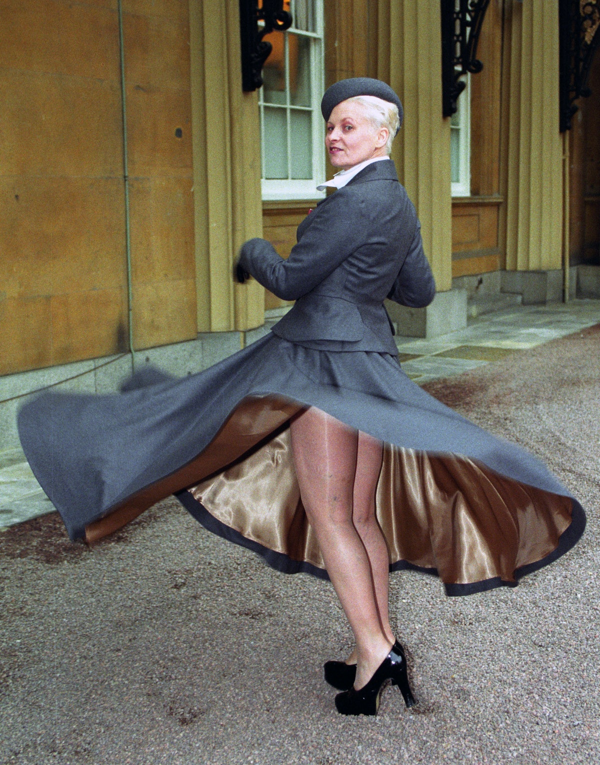 Vivienne Westwood twirling