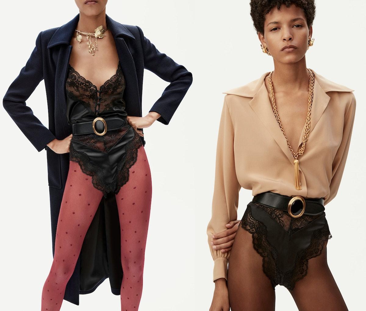 Two Saint Laurent models