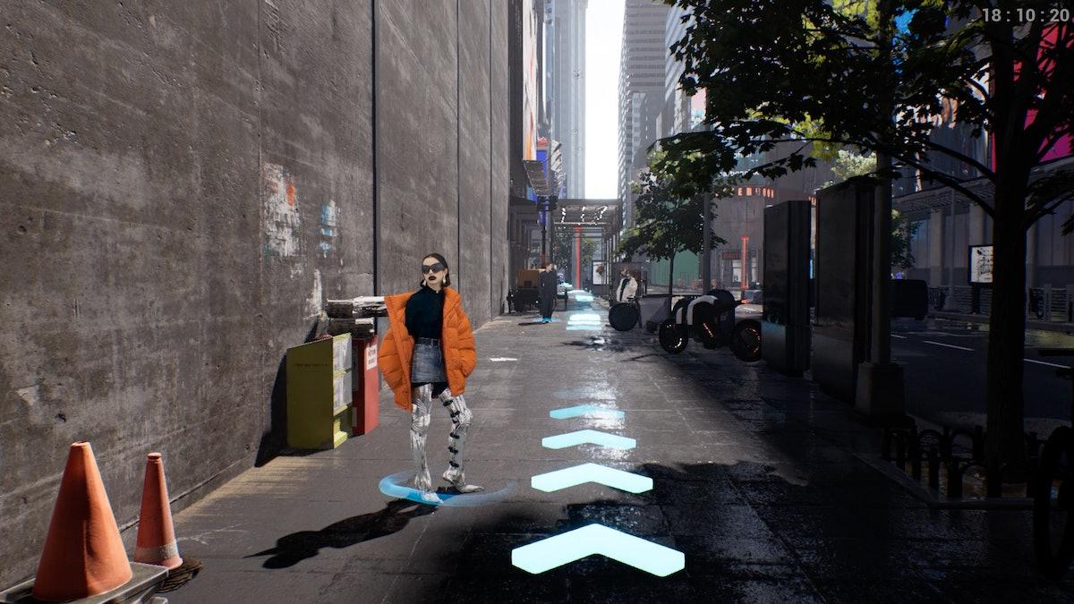 """A """"model"""" in Balenciaga's """"video game"""""""