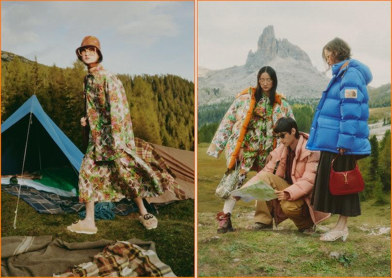 The North Face x Gucci campaign