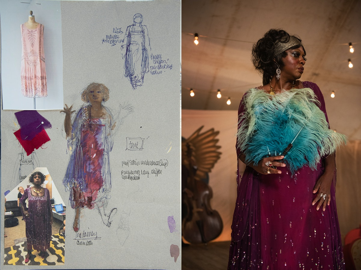 A sketch and still of Viola Davis
