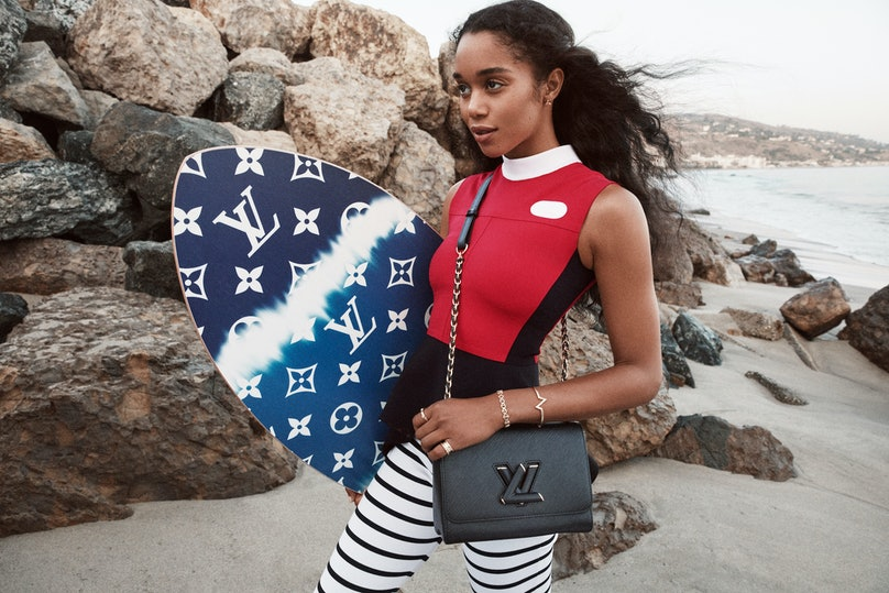 Laura Harrier in a Louis Vuitton campaign