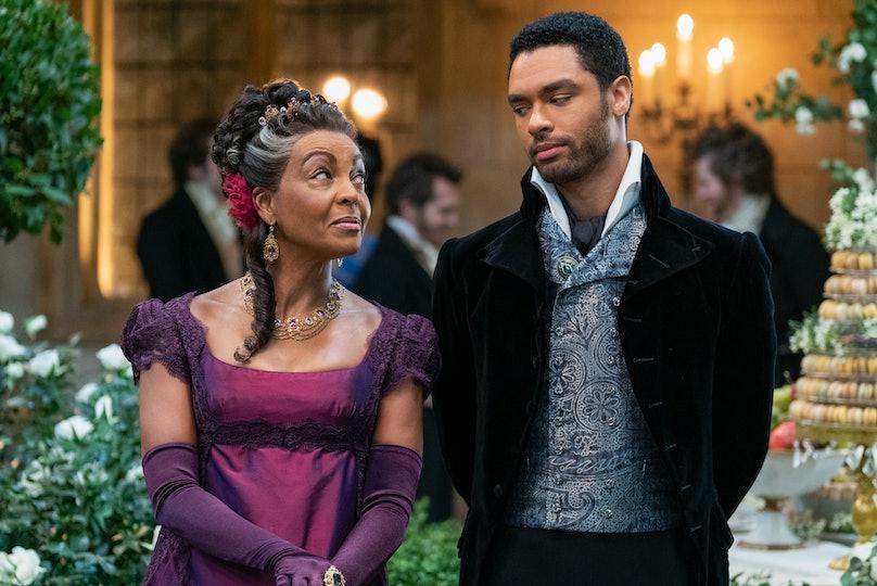 Lady Danbury looking at the Duke