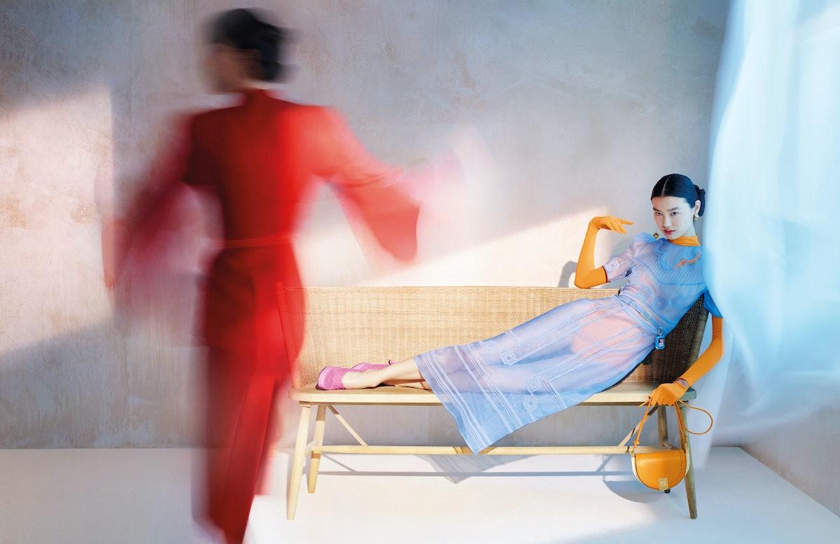 Estelle Chen in a Fendi campaign