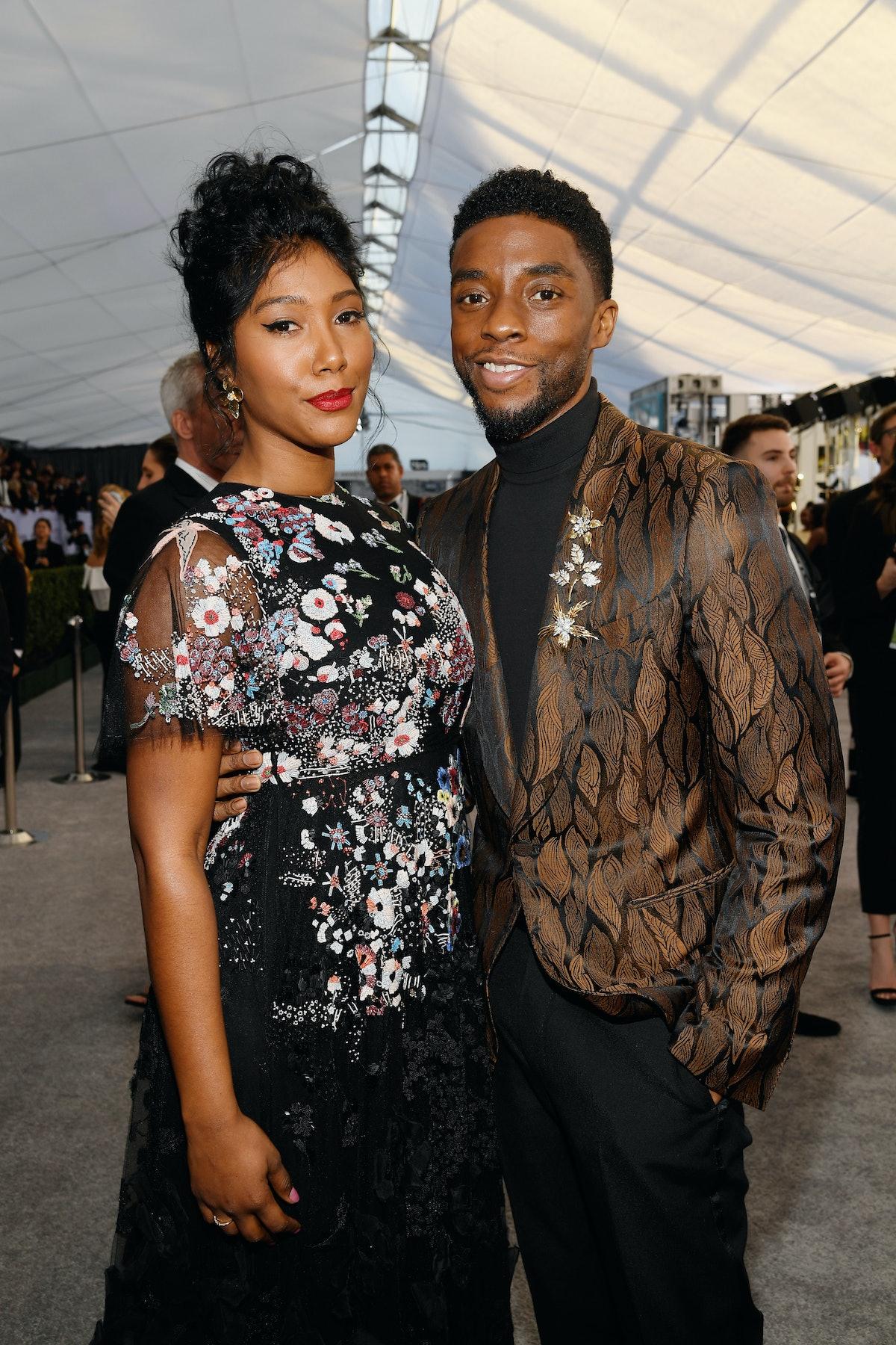 Taylor Simone Ledward and Chadwick Boseman