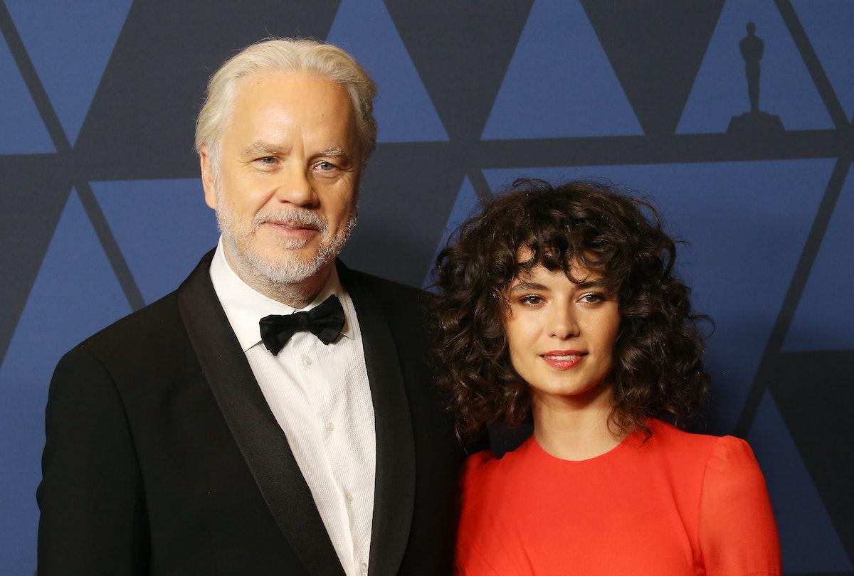 Tim Robins and wife.