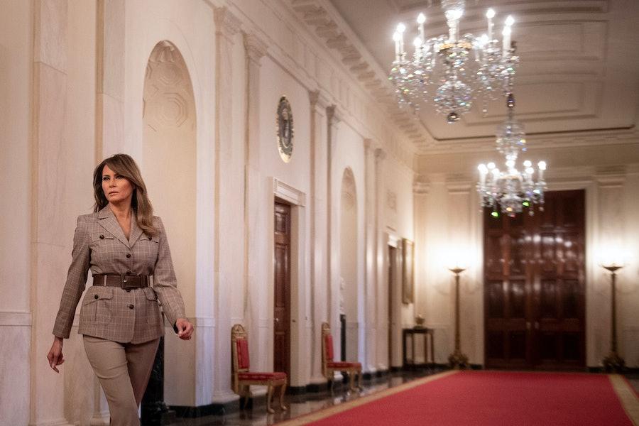 Melania Trump in the White House.