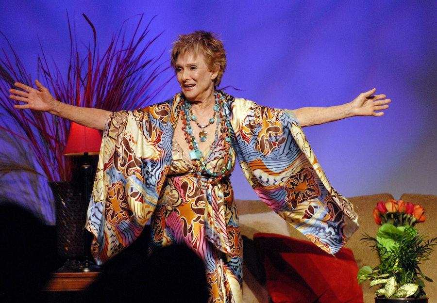 Cloris Leachman on stage.