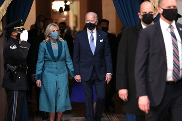 Jill Biden at the inauguration.