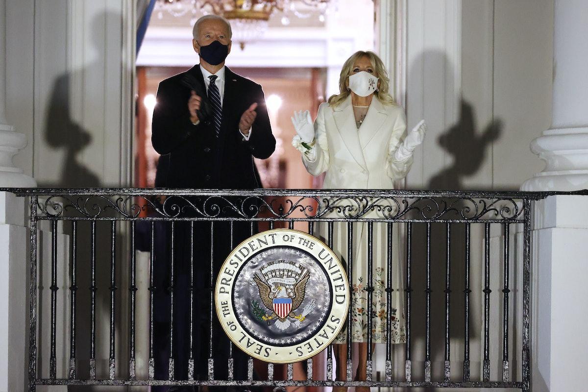 Joe and Jill Biden on balcony